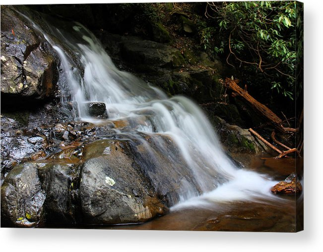 Waterfalls Acrylic Print featuring the photograph Laurel Falls Great Smoky Mountains by Jerome Lynch