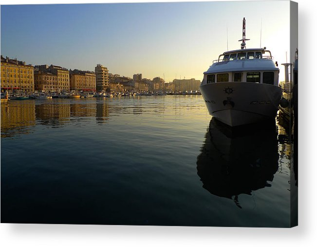 Yacht Acrylic Print featuring the photograph Le Vieux Port Marseille by August Timmermans