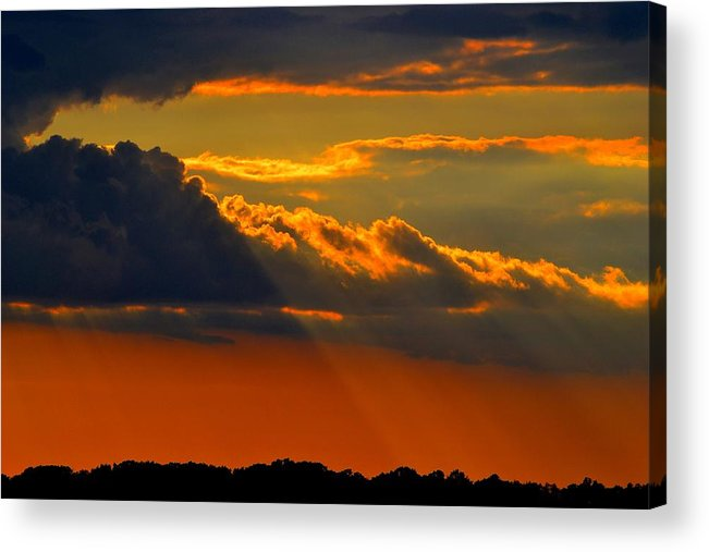Sunset Acrylic Print featuring the photograph Let The Light Shine by Ronald Goode