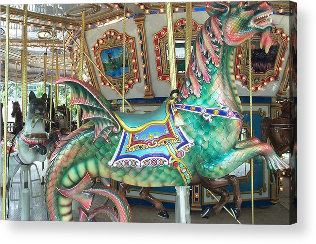 Dragon Acrylic Print featuring the photograph Liberty Dragon by Barbara McDevitt