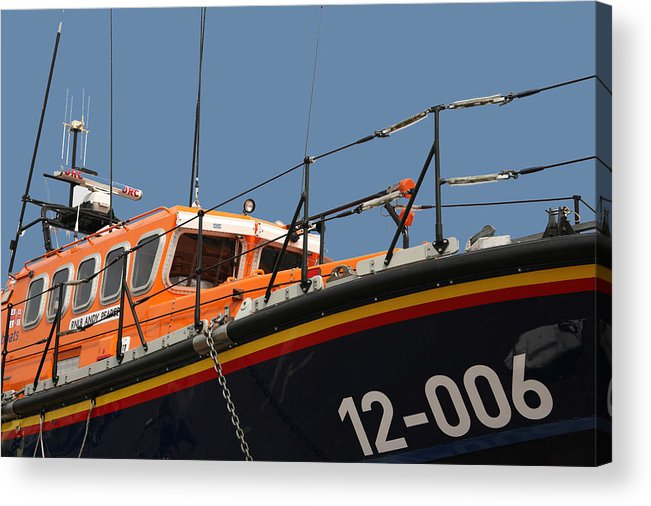 Life Acrylic Print featuring the photograph Life Boat by Christopher Rowlands
