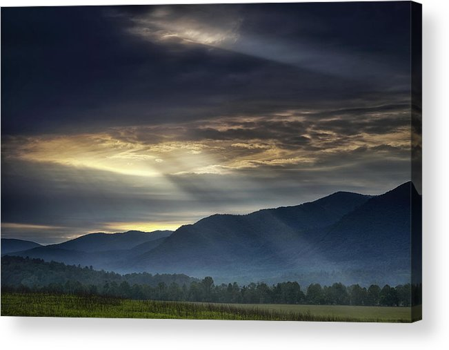 Smoky Acrylic Print featuring the photograph Light From The Heavens by Andrew Soundarajan