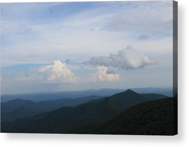 Clouds Acrylic Print featuring the photograph Like A Painting by Mary Koval