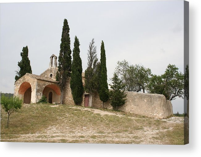 Chapel Acrylic Print featuring the photograph Little Chapel On A Hill by Christiane Schulze Art And Photography