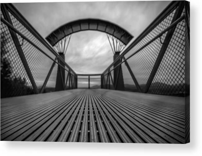 Fields Acrylic Print featuring the photograph Little Mountain Sky Bridge by Puget Exposure