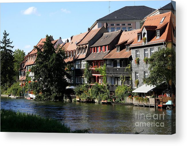Little Venice Acrylic Print featuring the photograph Little Venice - Bamberg - Germany by Christiane Schulze Art And Photography