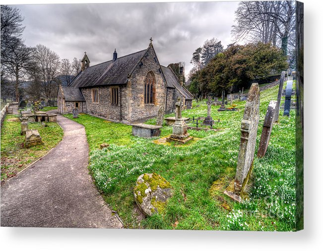 Architecture Acrylic Print featuring the photograph Llantysilio Church by Adrian Evans