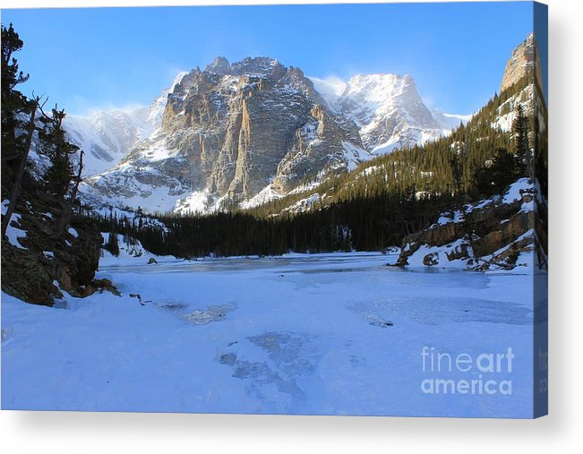 Winter Acrylic Print featuring the photograph Loch Vale Winter 2 by Tonya Hance