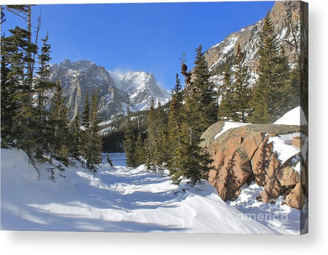 Winter Acrylic Print featuring the photograph Loch Vale Winter by Tonya Hance