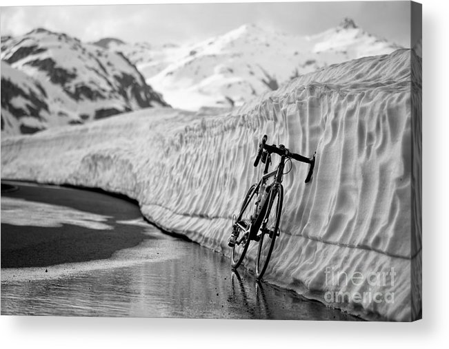 Bicycle Acrylic Print featuring the photograph Lonely Bike by Maurizio Bacciarini