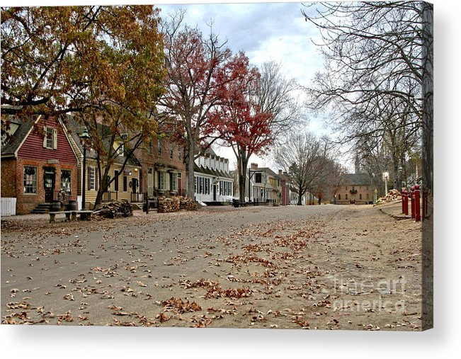 Williamsburg Acrylic Print featuring the photograph Lonely Colonial Williamsburg by Olivier Le Queinec