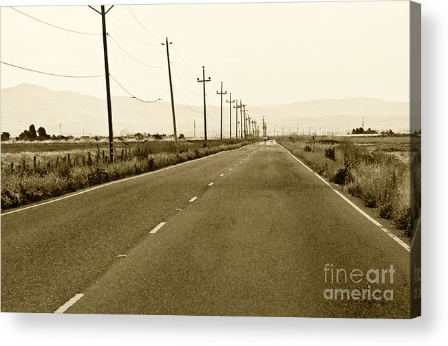Road Picture Acrylic Print featuring the photograph Long Road Home by Artist and Photographer Laura Wrede