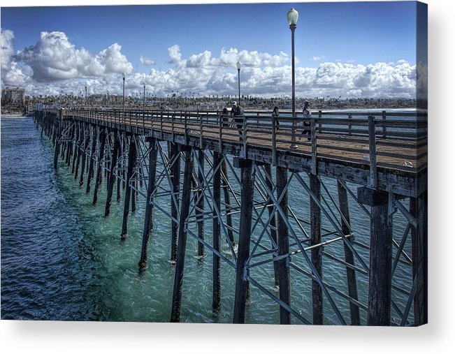 Carlsbad Acrylic Print featuring the photograph Long Walk by Diana Powell