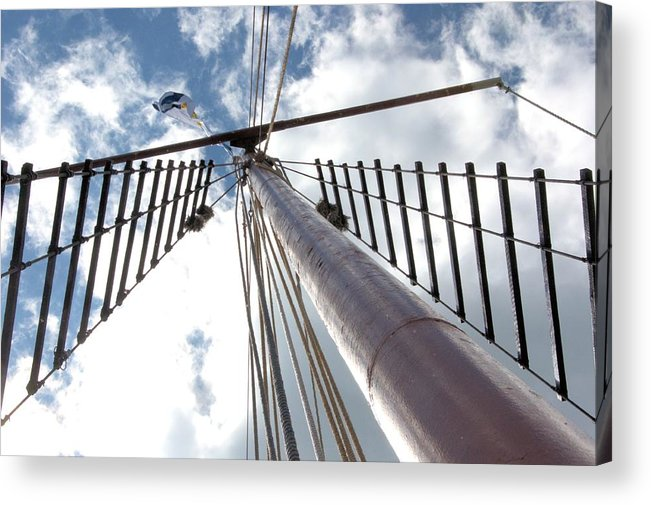 Tall Ship Acrylic Print featuring the photograph Look Way Up by Valerie Kirkwood