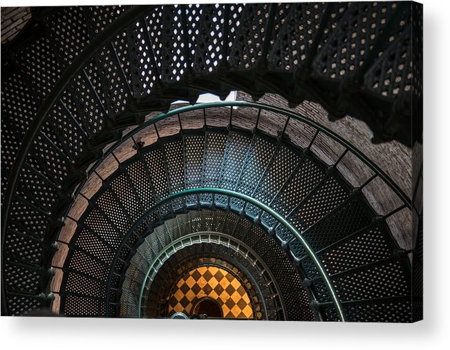 Lighthouse Acrylic Print featuring the photograph Looking Down by Stacy Abbott
