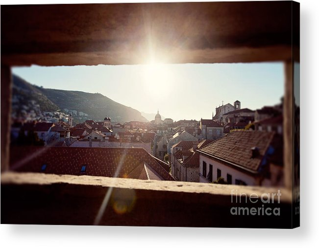 Croatia Acrylic Print featuring the photograph Looking Out by Erin Johnson