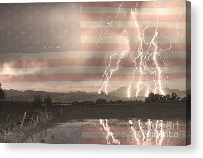America Acrylic Print featuring the photograph Love For Country by James BO Insogna