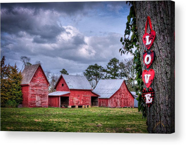 Smithfield Acrylic Print featuring the photograph Love The Barns At Windsor Castle by Williams-Cairns Photography LLC