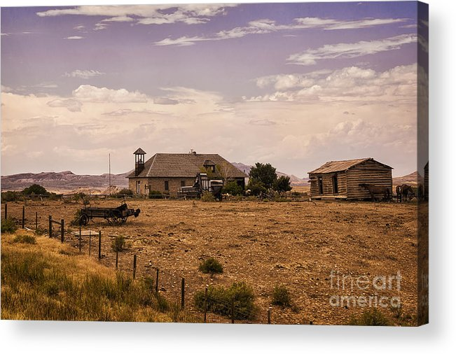 Lower Shell School House Acrylic Print featuring the photograph Lower Shell School House by Priscilla Burgers