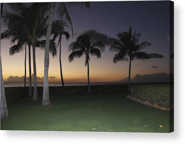Luau Acrylic Print featuring the photograph Luau Night Sunset by Andrea McClinnis