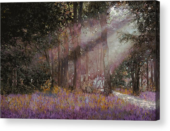 Wood Acrylic Print featuring the painting Luci by Guido Borelli