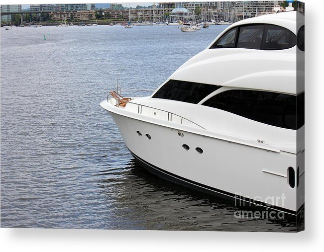 Boat Acrylic Print featuring the photograph Luxury by Sophie Vigneault