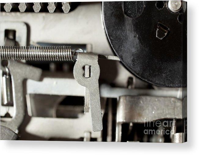Metallic Acrylic Print featuring the photograph Machine Parts by Jim Pruitt