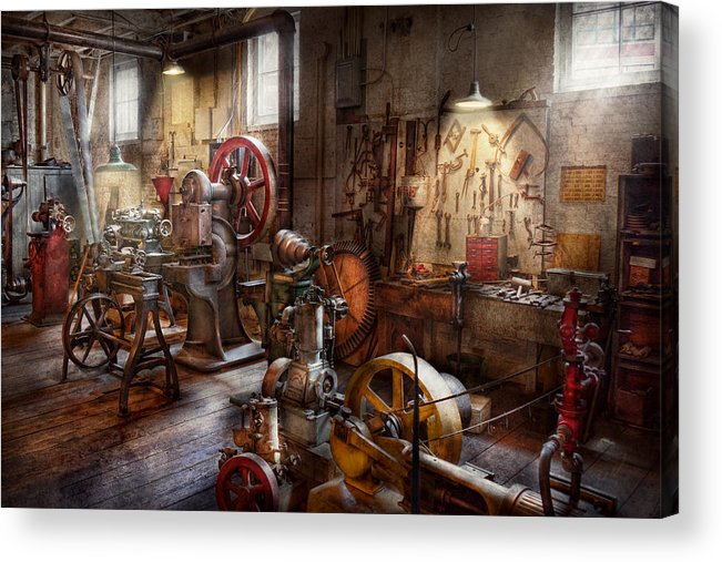 Machinist Acrylic Print featuring the photograph Machinist - A Room Full Of Memories by Mike Savad