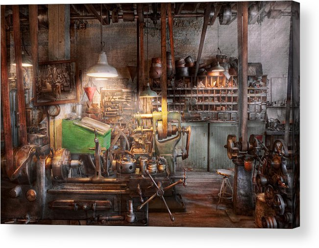 Machinist Acrylic Print featuring the photograph Machinist - It All Starts With A Journeyman by Mike Savad