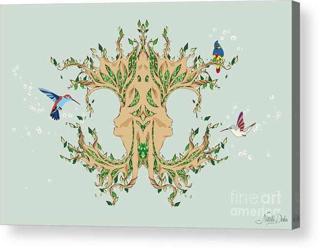 Art Acrylic Print featuring the digital art Magic Tree by Disko Galerie