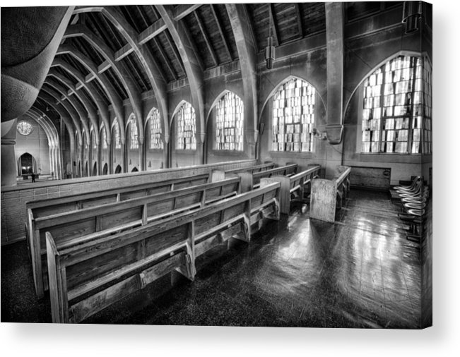 Abbey Acrylic Print featuring the photograph Majestic Architect by Gary Ezell