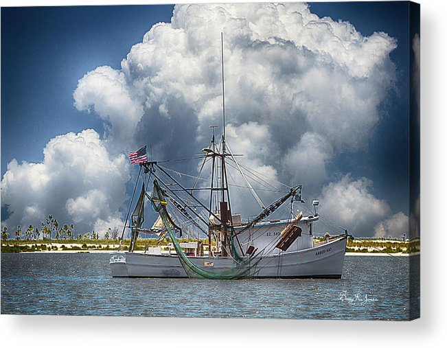 Shrimp Boat Acrylic Print featuring the photograph Nautical Art - Making A Trip by Barry Jones
