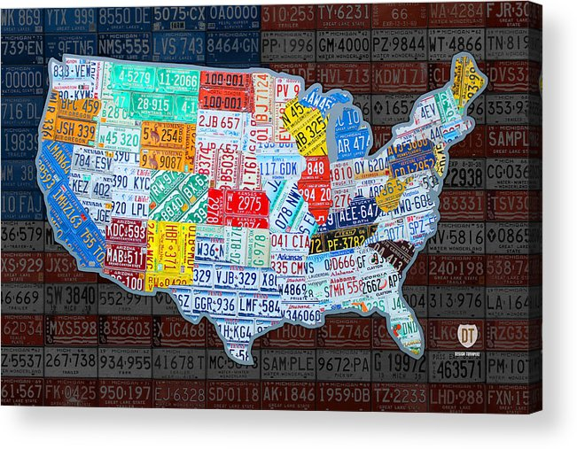 Map Of The United States In Vintage License Plates On American Flag  License Plate Map Usa on license plate world map, map usa map, color usa map, leapfrog interactive united states map, flag usa map, basketball usa map, baseball usa map, paint usa map, golf usa map, motorcycle usa map, driving usa map, decals usa map, watercolor usa map, art usa map, reverse usa map, list 50 states and capitals map, state usa map, time usa map, license plate map art, license plates for each state,