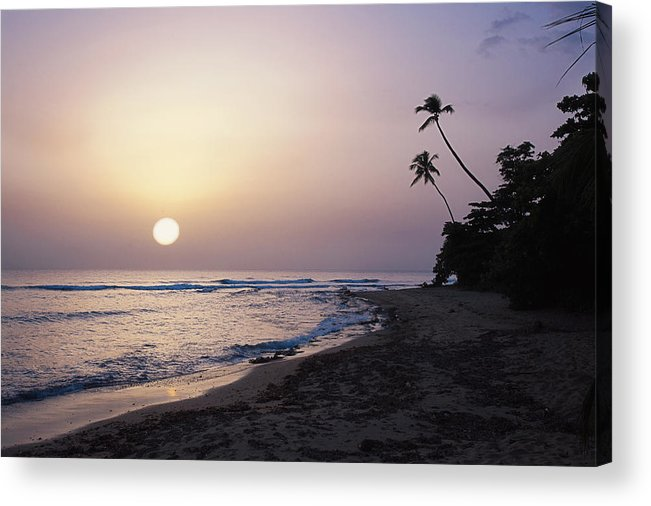 Beach Acrylic Print featuring the photograph Marias Beach Sunset Rincon Puerto Rico by George Oze