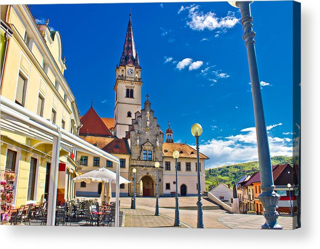 Abbey Acrylic Print featuring the photograph Marija Bistrica Marianic Sanctuary In Croatia by Brch Photography