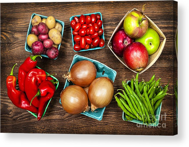 Local Acrylic Print featuring the photograph Market Fruits And Vegetables by Elena Elisseeva
