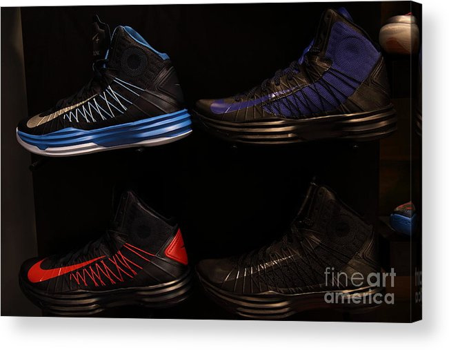 Shoe Acrylic Print featuring the photograph Men's Sports Shoes - 5d20654 by Wingsdomain Art and Photography