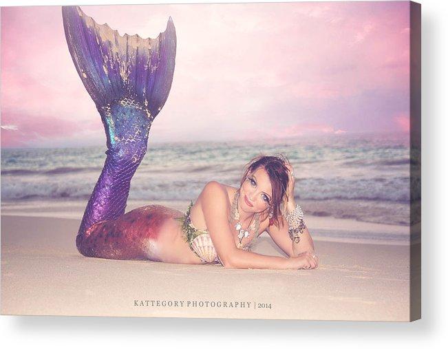 Mermaid Acrylic Print featuring the photograph Mermaid Harmony by Katherine Armendariz