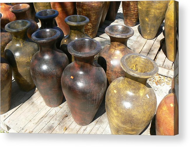 Pots Acrylic Print featuring the photograph Mexican Pots II by Scott Alcorn