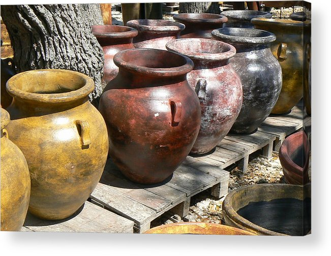 Pots Acrylic Print featuring the photograph Mexican Pots V by Scott Alcorn