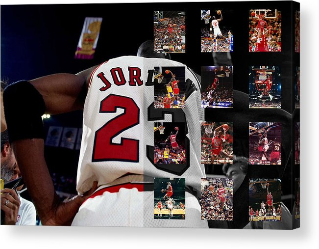 Michael Jordan Acrylic Print featuring the photograph Michael Jordan by Joe Hamilton