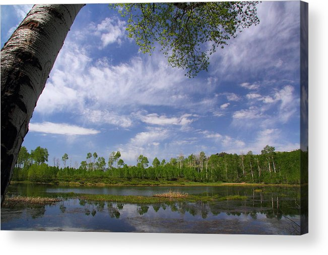 Midway Acrylic Print featuring the photograph Midway Reservoir by Gene Praag