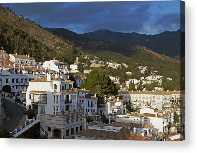 Spain Acrylic Print featuring the photograph Mijas And Surrounding Hills by Rod Jones
