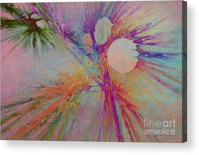 Abstract Acrylic Print featuring the digital art Mind Energy Aura by Deborah Benoit