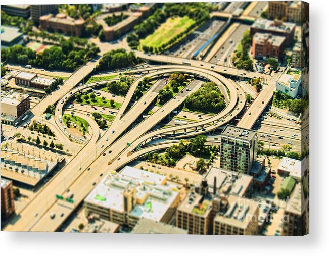 Road Acrylic Print featuring the photograph Mini Motorway by Andrew Paranavitana