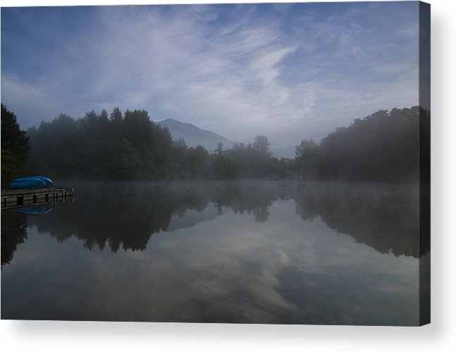 Fukushima Acrylic Print featuring the photograph Misty Morning by Aaron Bedell