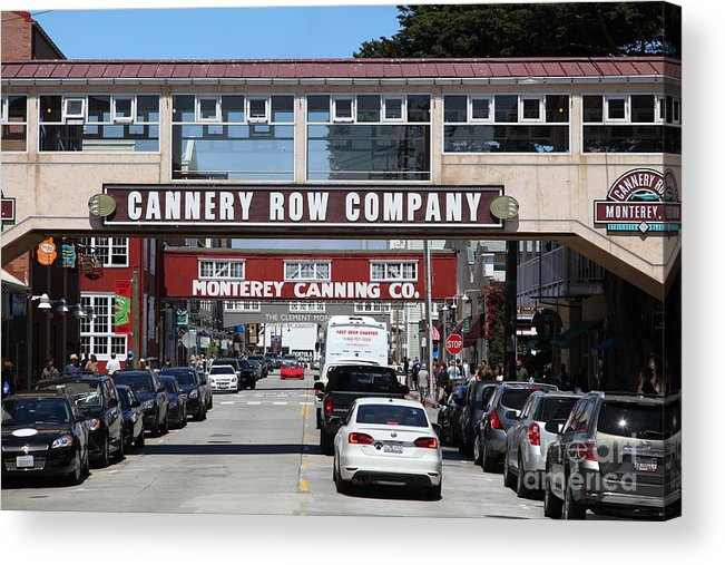 Monterey Acrylic Print featuring the photograph Monterey Cannery Row California 5d25034 by Wingsdomain Art and Photography