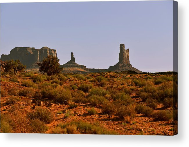 Monument Valley Acrylic Print featuring the photograph Monument Valley - Unusual Landscape by Christine Till