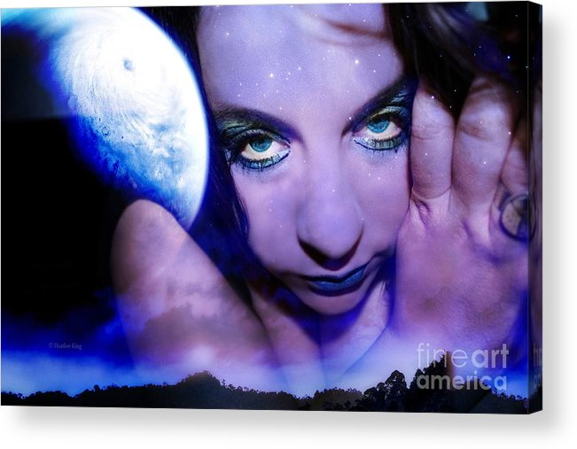 This Image Is  Heather King. You May Not Use This Or Any Of My Images (in Whole Or In Part). All Rights Reserved. Acrylic Print featuring the photograph Moon Intoxication by Heather King
