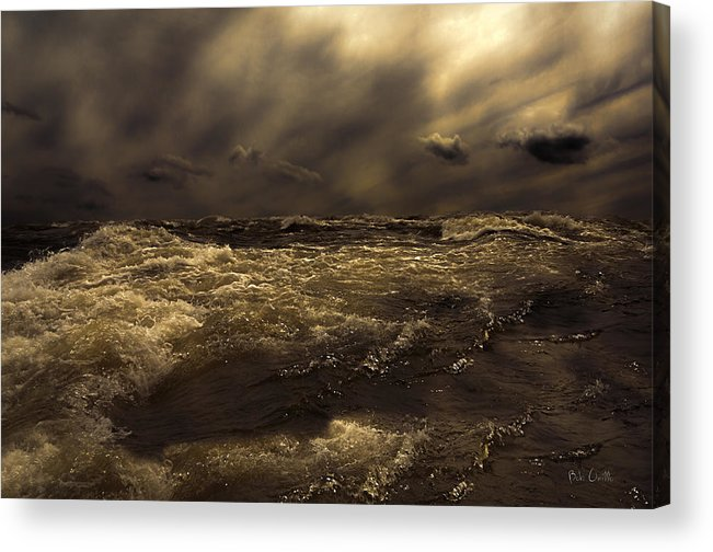 Seascape Acrylic Print featuring the photograph Moonlight On The Water by Bob Orsillo